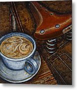 Still Life With Ladies Bike Metal Print by Mark Jones