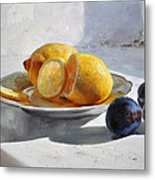 Still Life With Lemons Metal Print