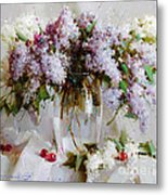 Still Life With Lilac Metal Print