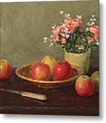 Still Life With Red Apples Metal Print