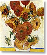Still Life With Sunflowers Metal Print