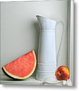 Still Life With Watermelon Metal Print by Krasimir Tolev