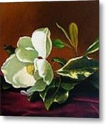 Still Life With White Flower Metal Print