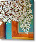 Still Life With White Flowers Metal Print