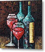 Still Life With Wine Metal Print