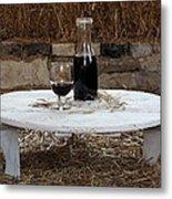 Still Life With Wine Slv1 Metal Print