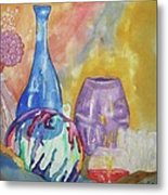 Still Life With Witching Ball Metal Print