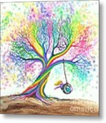 Still More Rainbow Tree Dreams Metal Print by Nick Gustafson