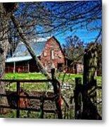 Still Useful Rustic Red Barn Art Oconee County Metal Print