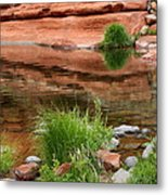 Still Waters At Slide Rock Metal Print