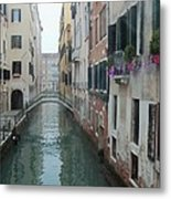 Still Waters In Venice Italy Metal Print