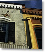 Stitched Buildings Metal Print
