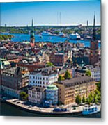Stockholm From Above Metal Print