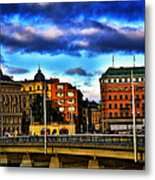 Stockholm In Color Metal Print