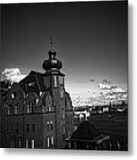 Stockholm In Dark Black And White Metal Print