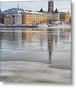 Stockholm Winter Metal Print