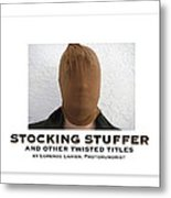 Stocking Stuffer Book Cover Metal Print
