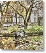 Stokholm  Swiss In The Courtyard Metal Print