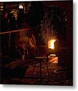 Stoking The Sauna Metal Print