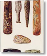 Stone Age Artifacts From Norway - Tools Metal Print