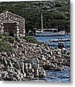 Roman Port Of Sa Nitja In Minorca - Stone And Sea Metal Print