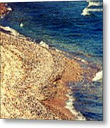Stone And Water Metal Print
