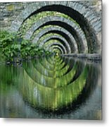 Stone Arch Bridge Over Troubled Waters - 1st Place Winner Faa Optical Illusions 2-26-2012 Metal Print