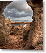A Natural Stone Arch In North Coast Of Minorca Appears Like A Pass To One Thousand And One Night  Metal Print