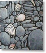 Stone Beach Keepsake Rocky Beach Shells And Stones Metal Print
