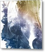 Stone Blue Mare Metal Print by Diana Shively