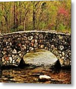 Stone Bridge In The Ozarks Metal Print by Benjamin Yeager