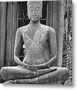 Stone Buddha Metal Print by Adam Romanowicz