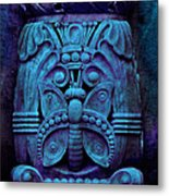 Stone Butterfly - Blue Metal Print