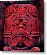 Stone Butterfly - Red Metal Print