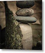 Stone Cairns IIi Metal Print
