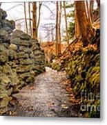 Stone Cold Walkway Metal Print by Jim Lepard