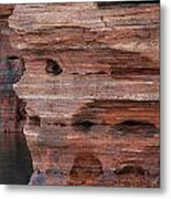 Stone Faced Metal Print