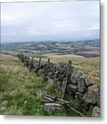 Old Dry Stacked Stone Fence Of Scotland Metal Print