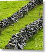 Stone Fences In Ireland Metal Print