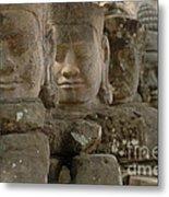 Stone Figures Cambodia Metal Print