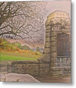 Stone Gate Metal Print by Tom Gari Gallery-Three-Photography