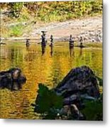 Stone Gods Of The River Metal Print