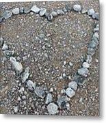 Stone Heart Metal Print