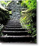 Stone House Stairs Metal Print by Lizbeth Bostrom