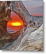Stone Lagoon Sunset Metal Print