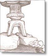 Stone Lantern Metal Print