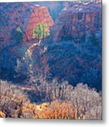 Stone Quarry At Red Rocks Open Space Metal Print
