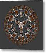 Stone Ridge Mandala Metal Print