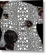 Stone Rock'd Dog By Sharon Cummings Metal Print by Sharon Cummings