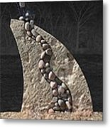 Stone Sculpture Before The Forest Metal Print